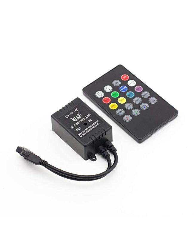 DC12V 72W IR Music LED Controller With 20 Keys Remote Control