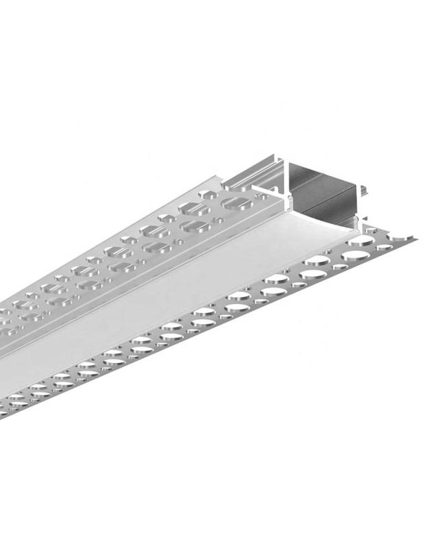 LED Tape Light Channel With Long Flange For Drywall