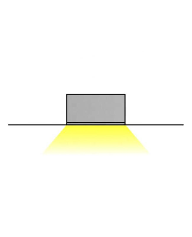 LED Tape Light Channel With Long Flange For LED Strips