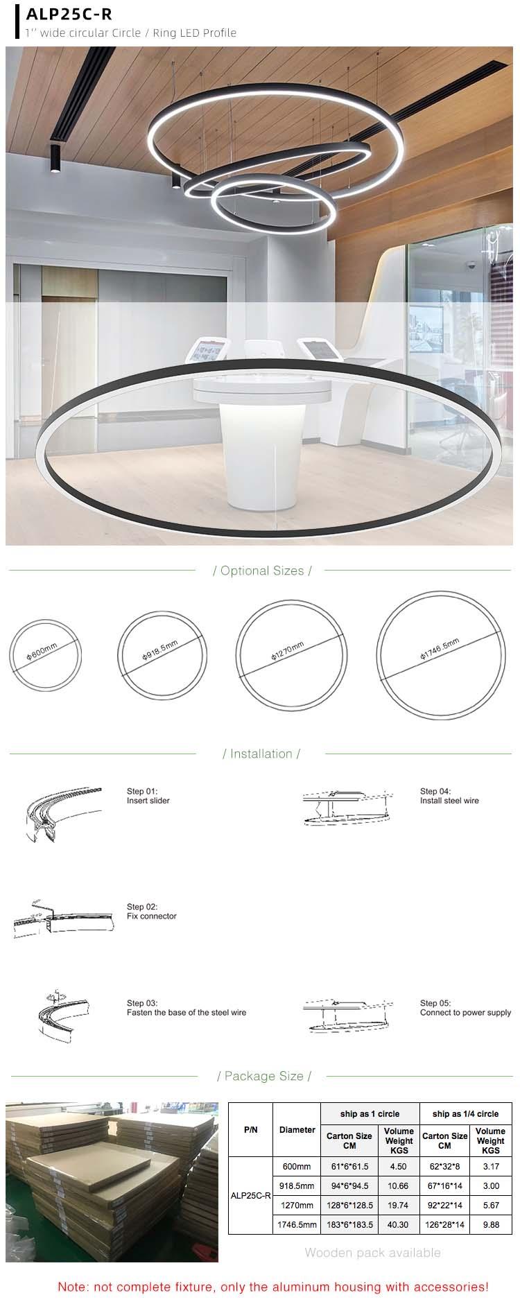 Ring LED Strip Lighting Channel