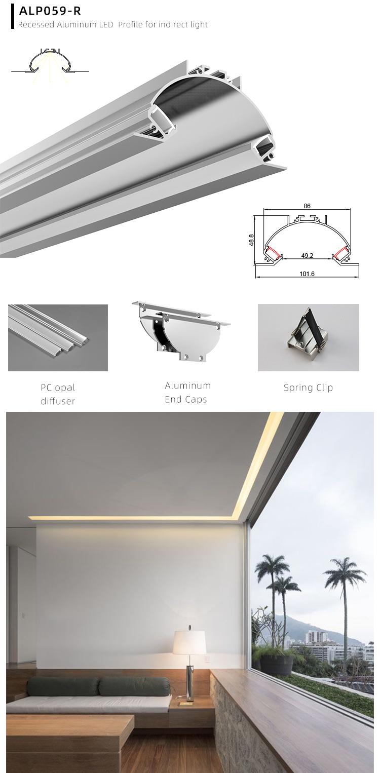 Recessed LED Linear Ceiling Wall Aluminium Profil LED