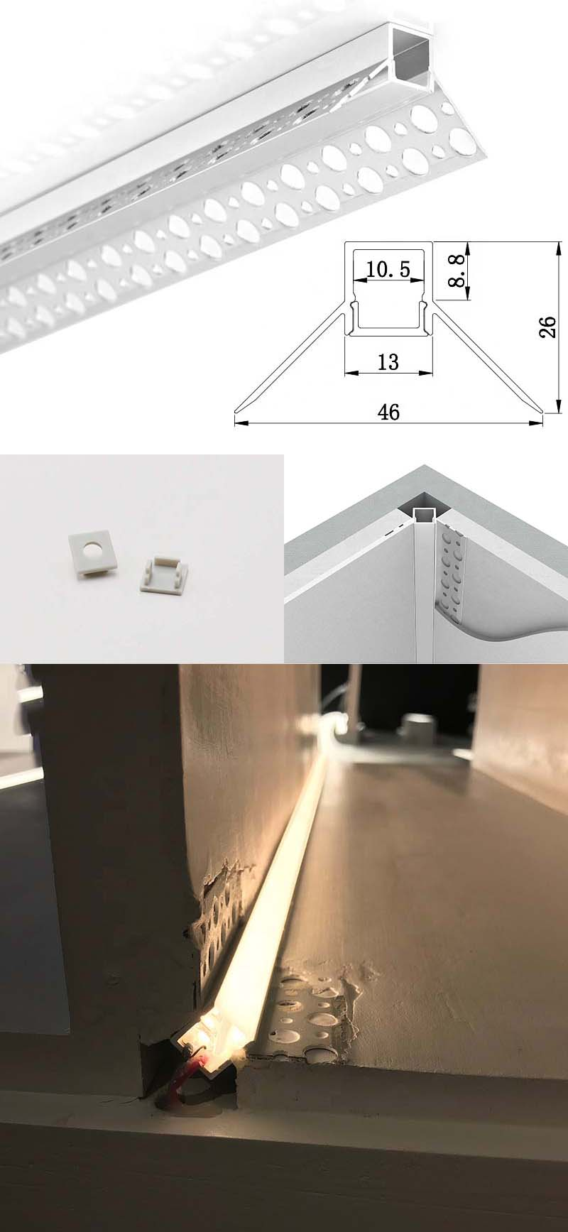 LED Drywall Extrusion With Flange