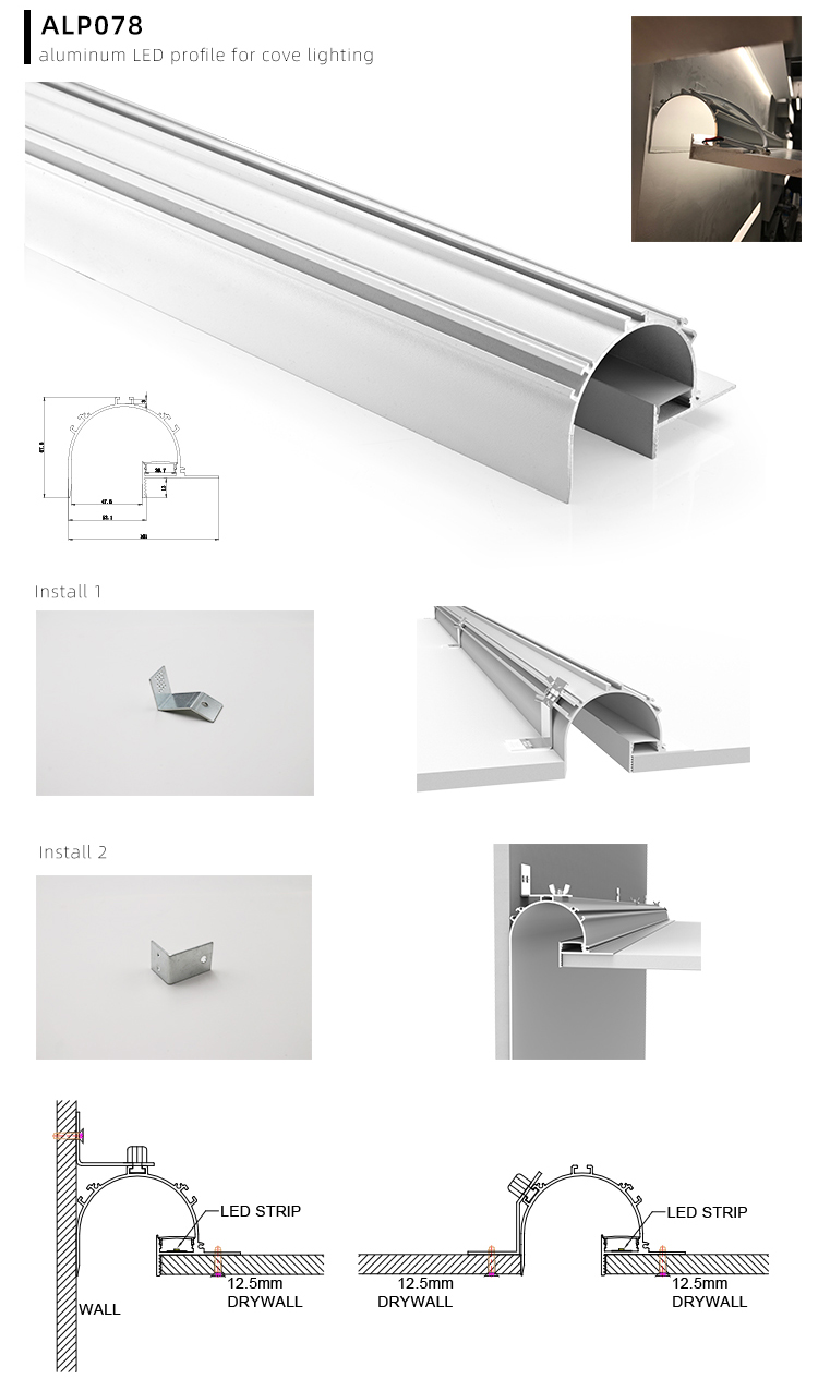 LED Plasterboard Profile Application