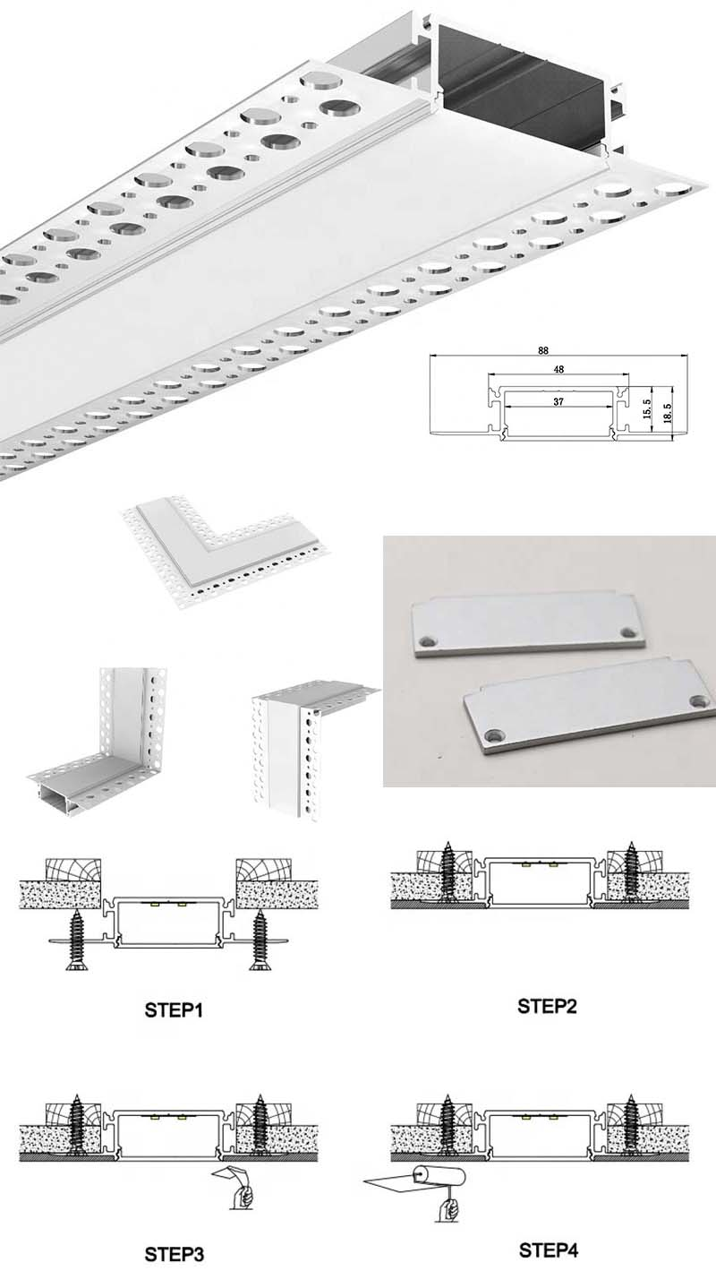 LED Drywall Extrusion Application