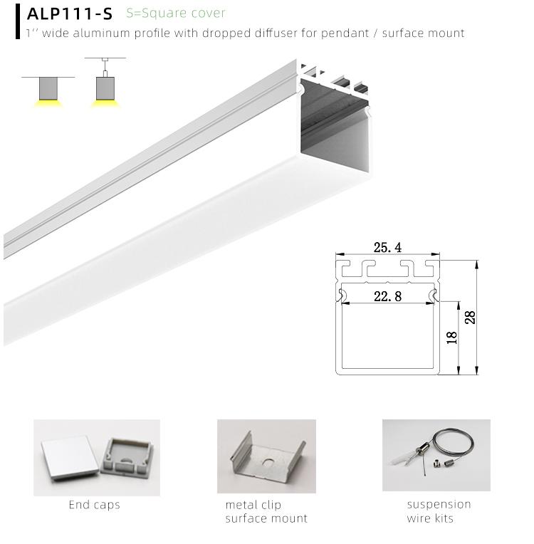 Aluminum LED Profile Housing Installation
