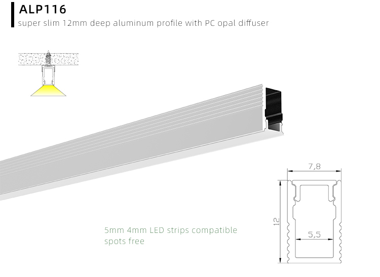 Tiny Recess LED Channel Profile