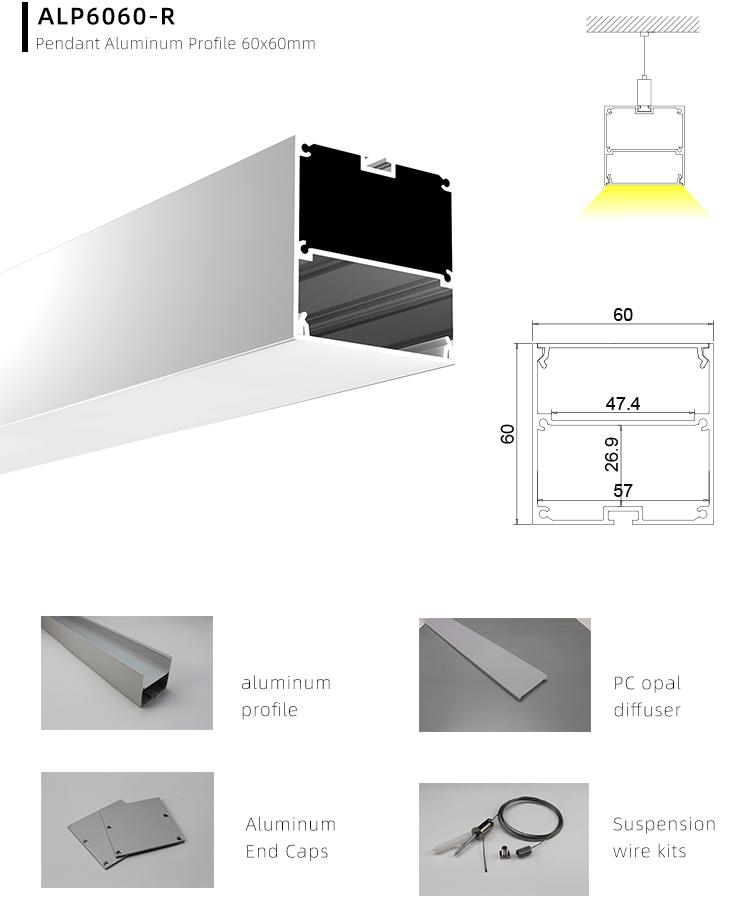 LED Linear LED Strip Aluminium Profile