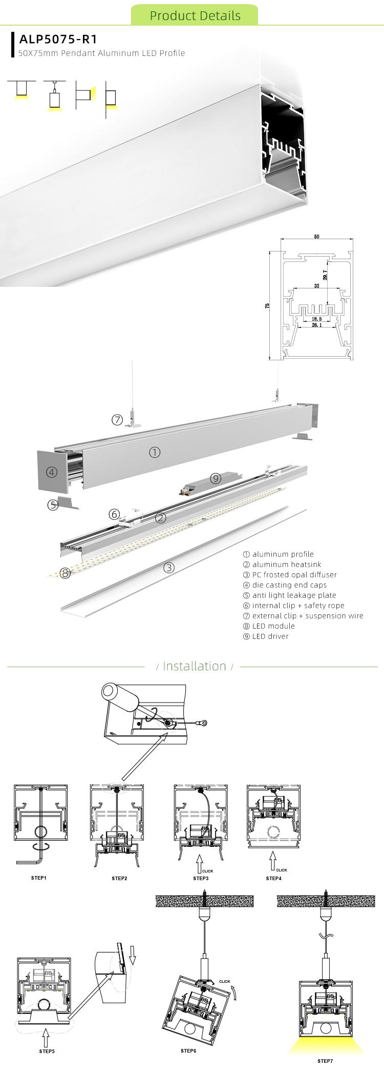 Deep Aluminum LED Channel